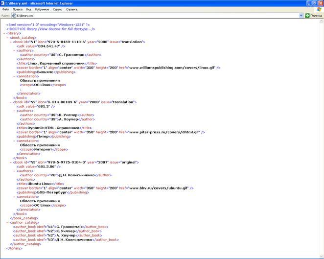 нами XML документ.